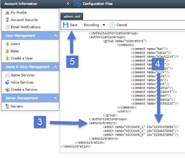 Adding Admins to your Avorion Server - Knowledgebase - Citadel Servers
