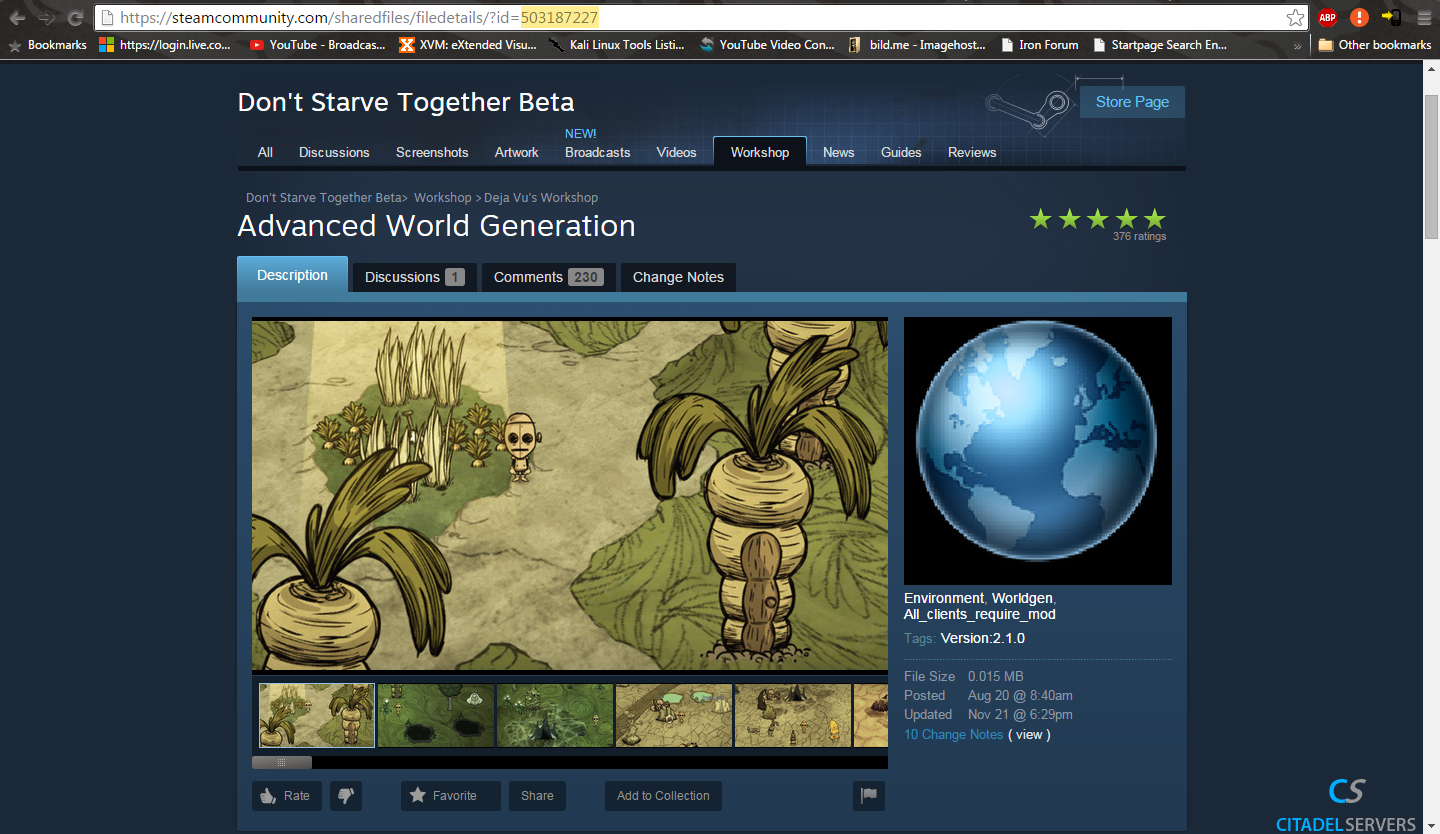 How to add mods to your server in Don't Starve Together